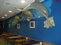 cafeteria y delfines