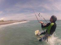 男孩与风筝冲浪风筝
