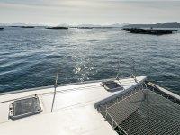 Spectacular views sailing on catamaran