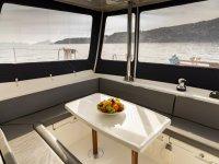 Comfort inside the catamaran