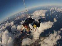Paracaidismo sobre Maspalomas con fotos y vídeo
