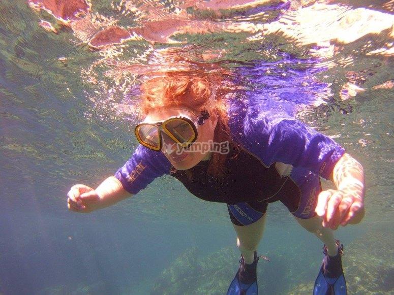 Snorkeling in Calpe