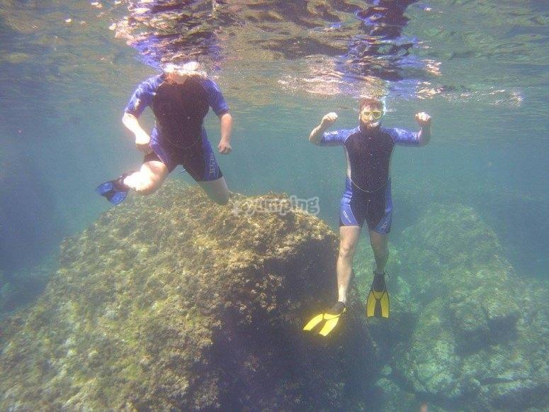 Practice snorkeling in Calpe