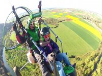 Paragliding in spring