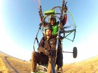 Paramotor trike flight
