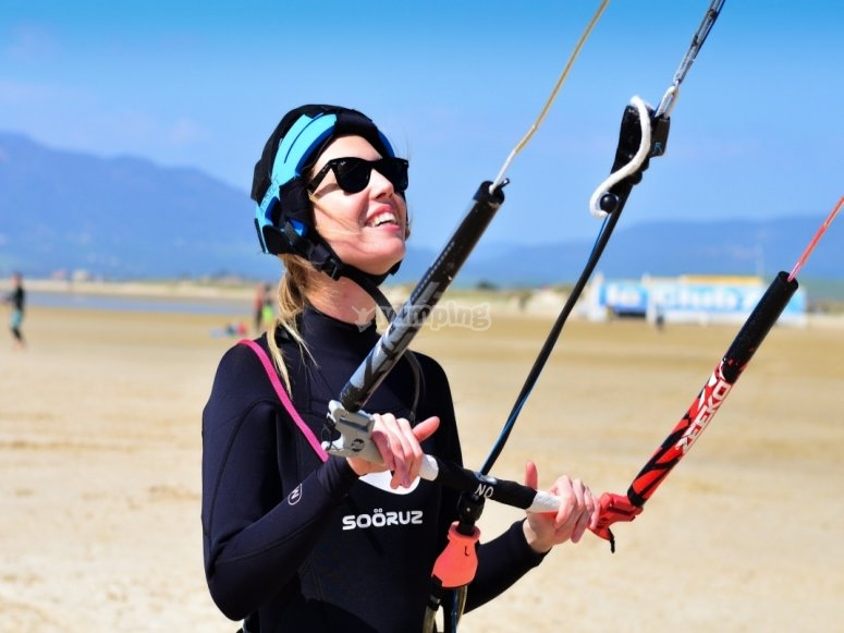塔里法学习风筝冲浪