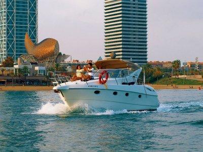Gobbi boat tour in Barcelona coast 1 hour