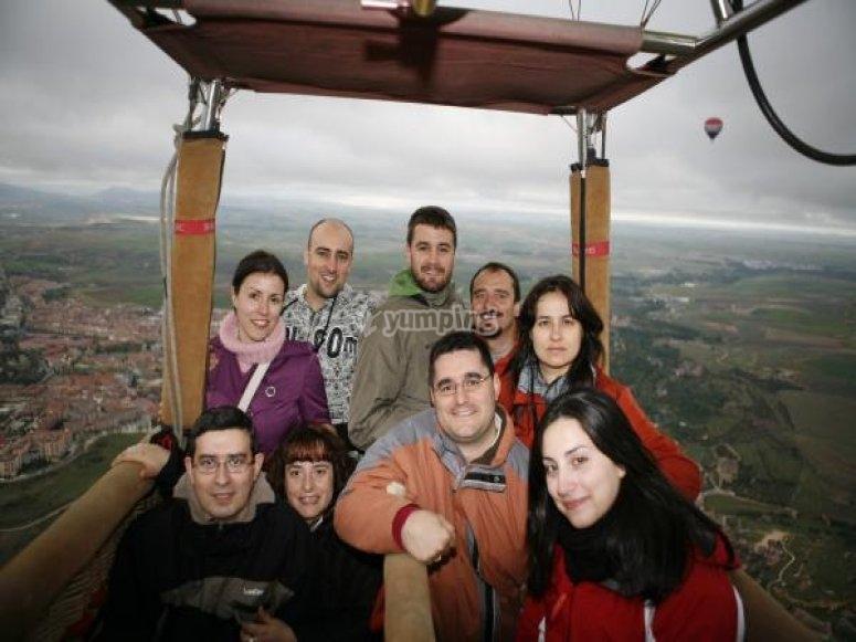 气球飞行的每个人在塞戈维亚