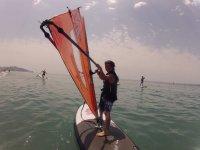 学校帆板Burriana海滩水上运动中心夏令营