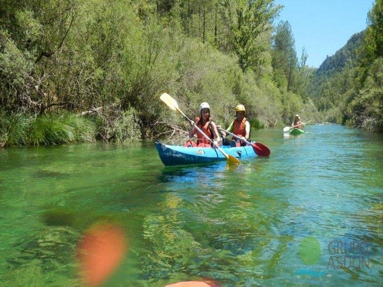 Esercitarsi con la canoa