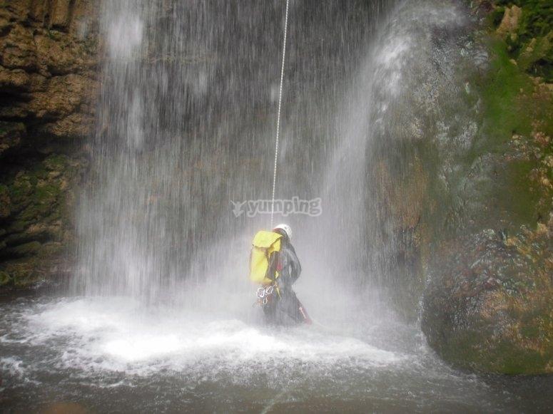 Waterfall in Barranco Serrania de Cuenca