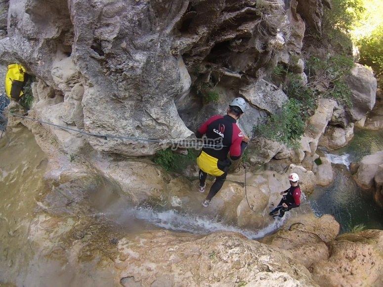 Water slide in Cuenca