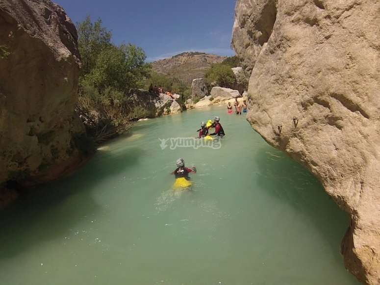 Section to swim in Barranco de Cuenca