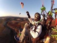 在马德里Alcarria动力伞串联航班