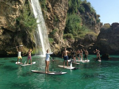 Paddle surf trip over Maro cliffs