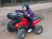 Habilidad conduciendo el quad