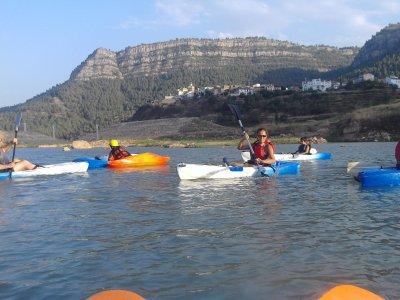 阿雷诺斯水库的皮划艇路线和照片