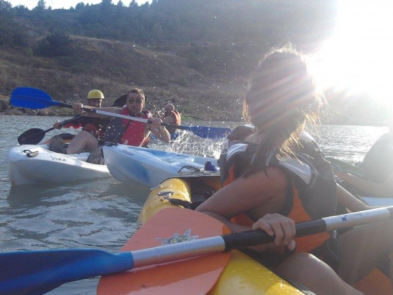Paseando en kayak