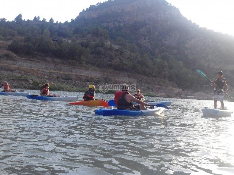 Kayak en el pantano