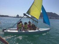 Alumnado del curso de vela en La Línea