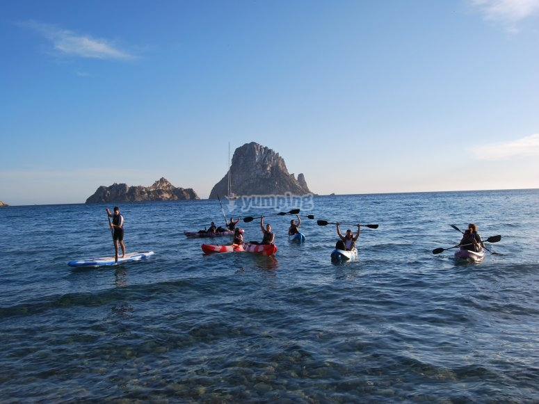 Paseo en kayak por Ibiza