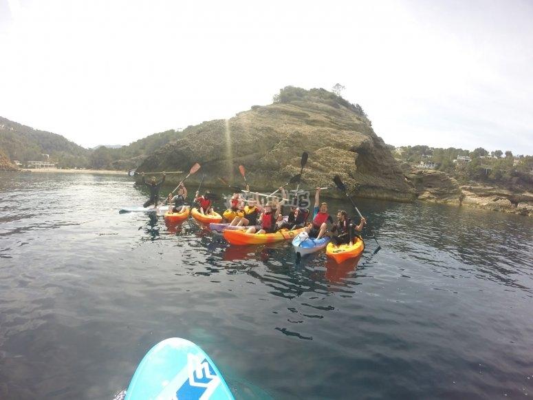 Salida en kayak por Ibiza