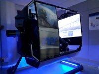 Volando en un simulador aéreo