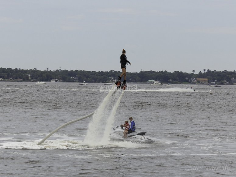 Flyboarding at the Canal Olímpic