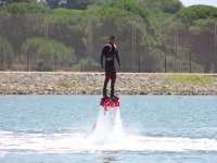 Hovering the water surface with the flyboard