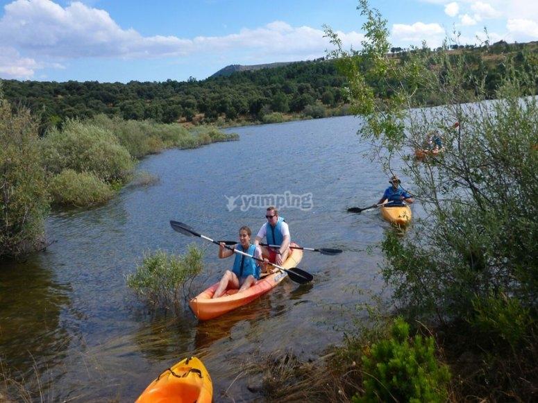 Piraguismo en el rio Cuervo