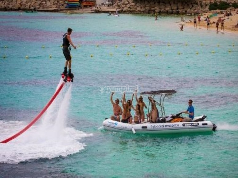 Trying to flyboard