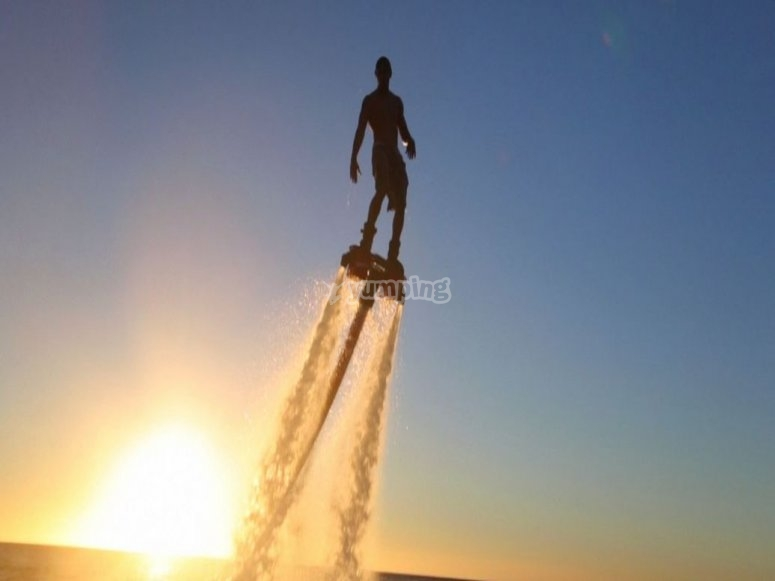 Fly on flyboard