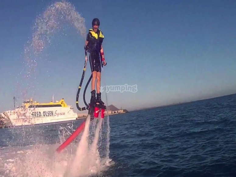 Flyboarding in Badalona
