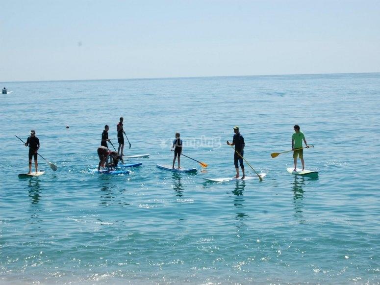 Paddle surf Calella