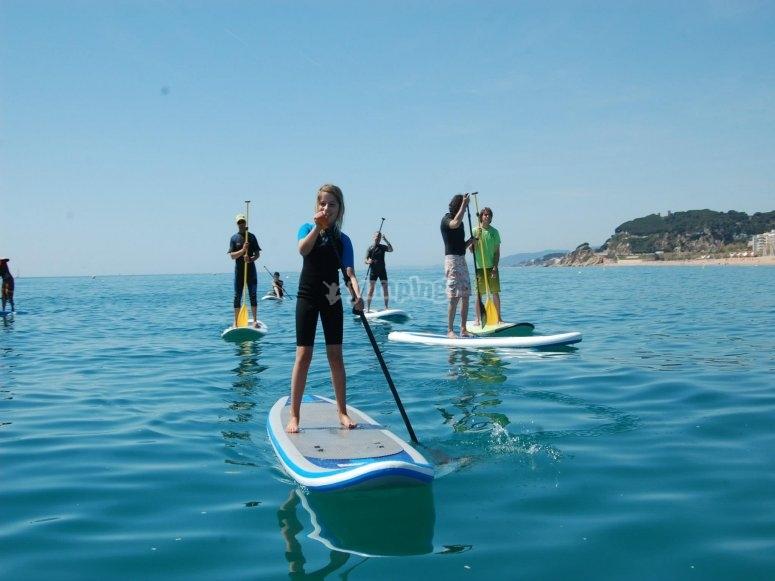 Paddle surf en familia cerca de Barcelona