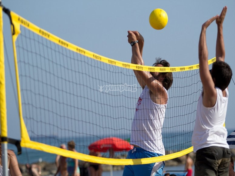 Volley beach match in Barcelona