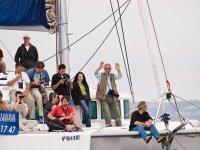 Haciendo fotos desde el barco