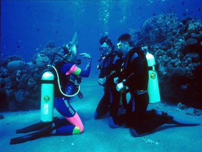 PADI open water diver course in Ibiza