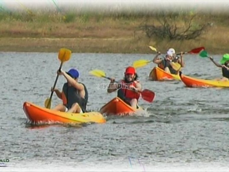 Challenges in a kayak