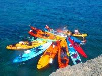 Estacionamiento de los kayaks