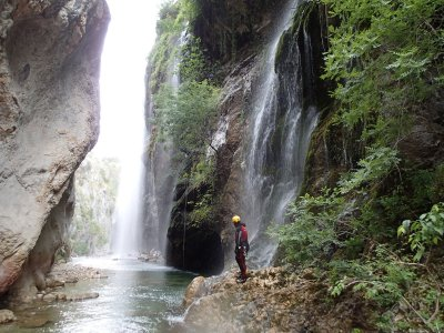 Canyoning in the Castril river 2X1