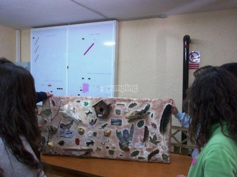 taller en aula cerrada