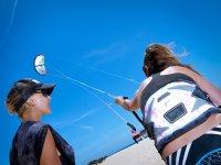 Control del kite en tierra