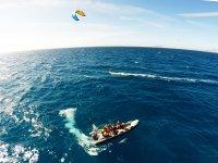 Barco de seguridad para kite
