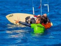 Instrucciones de kite en el agua