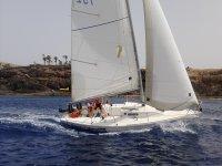 Iniciación a la vela en barco de regatas j80