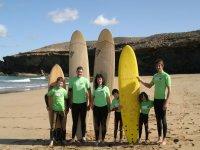 Equipo de profesores y alumnos de Line Up Fuerteventura.
