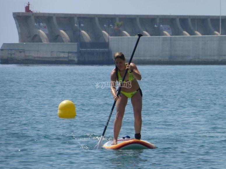 Paddle surf a Malaga