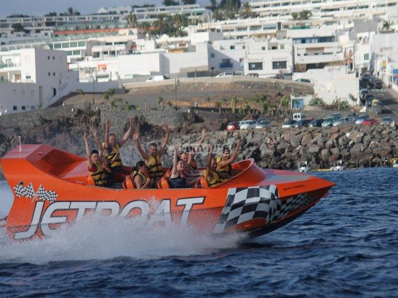Ven a probar el jetboat en Lanzarote