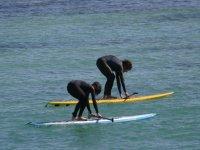 Entrenamientos de paddle surf.